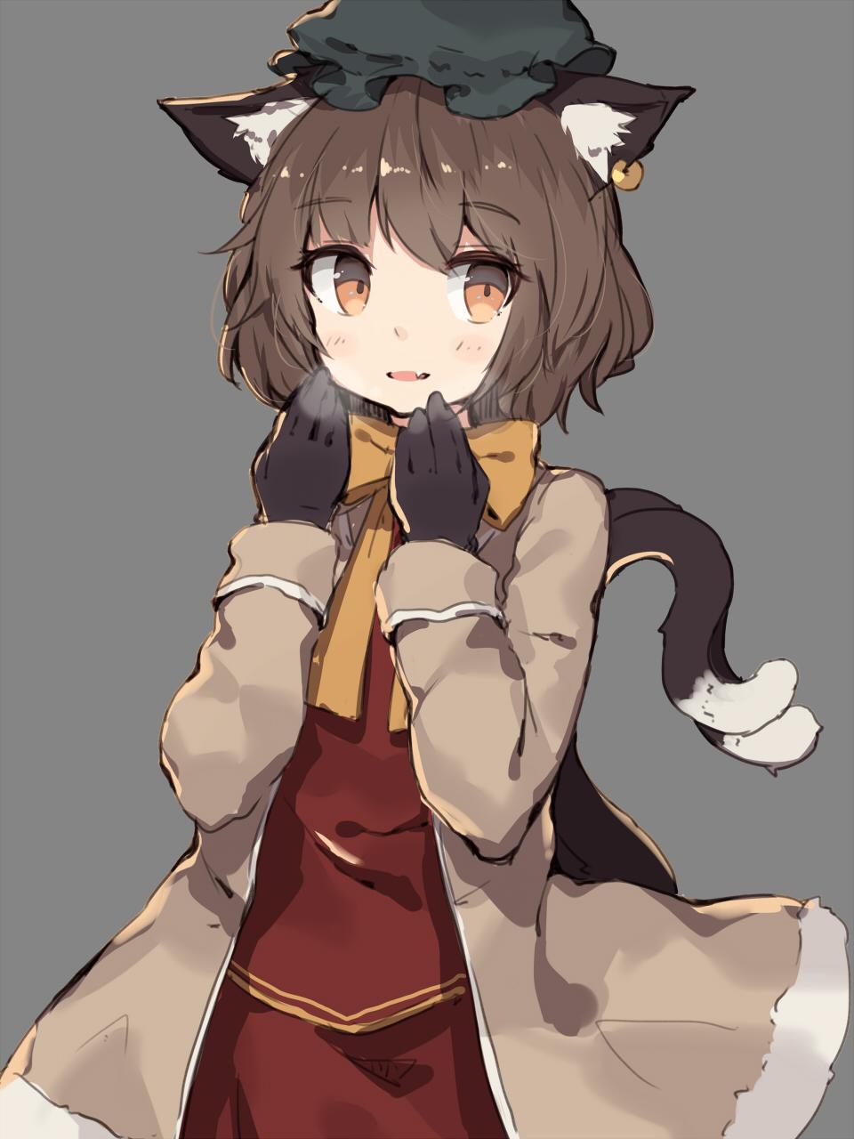 a cute catgirl